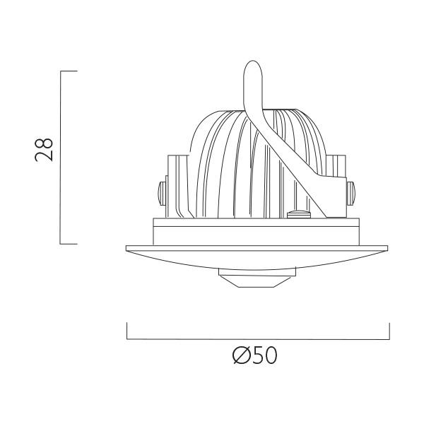 Waylight 3 Open Area Lens Line Drawing